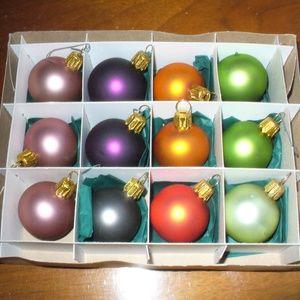 "Smith & Hawken German glass 1.5""ornaments (#EV748)"